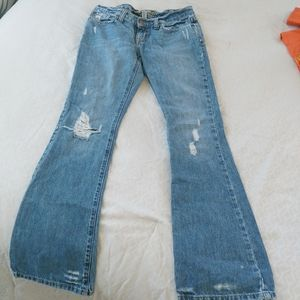 Abercrombie and Fitch distressed jeans 00S flare